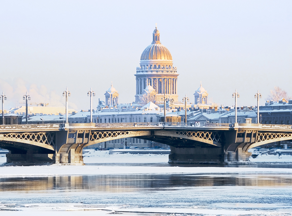 St. Petersburg in winter
