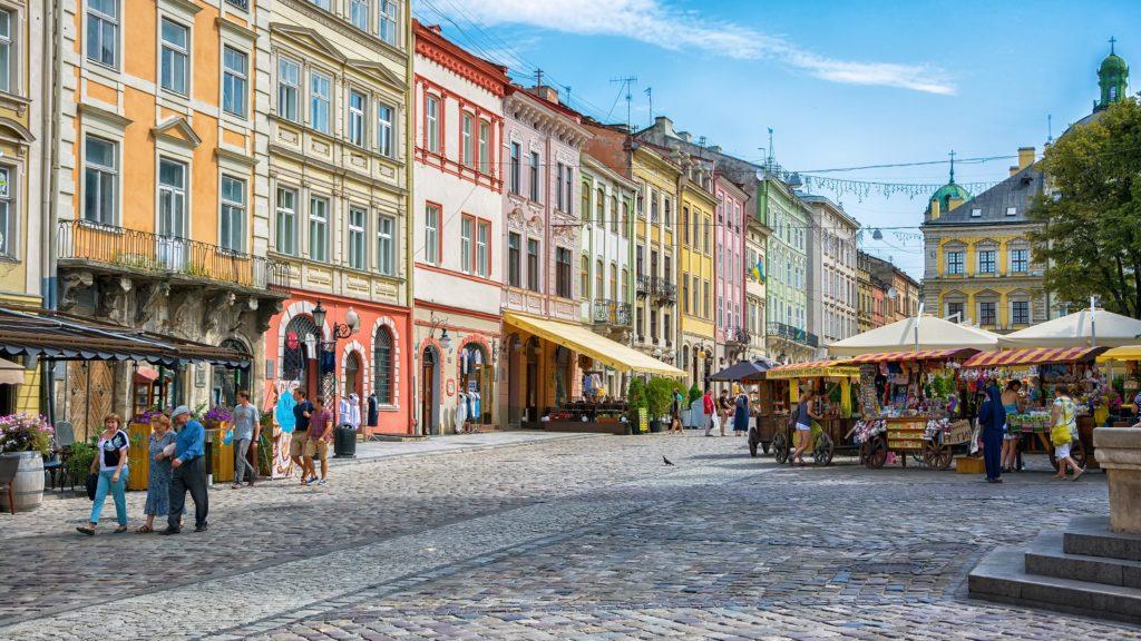 Ploshcha Rynok Lviv Ukraine