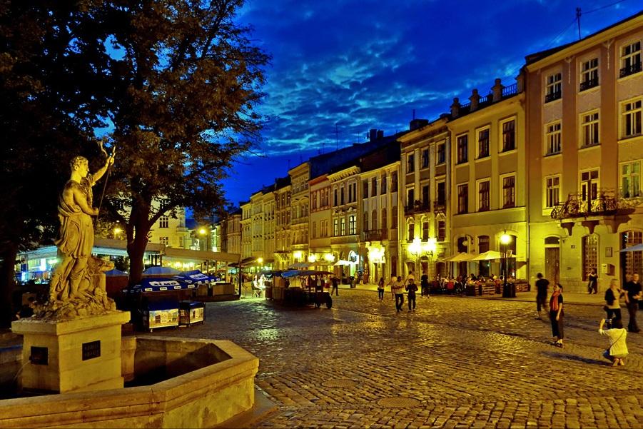 Ploshcha Rynok Lviv in Ukraine