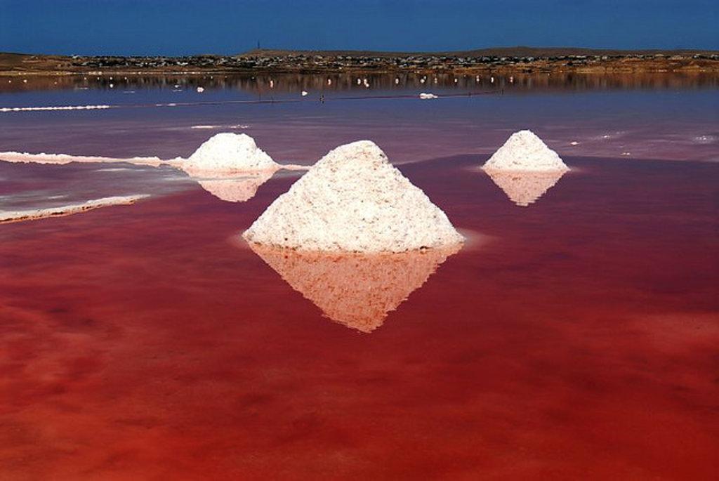 Red Salt Lake of Masazir