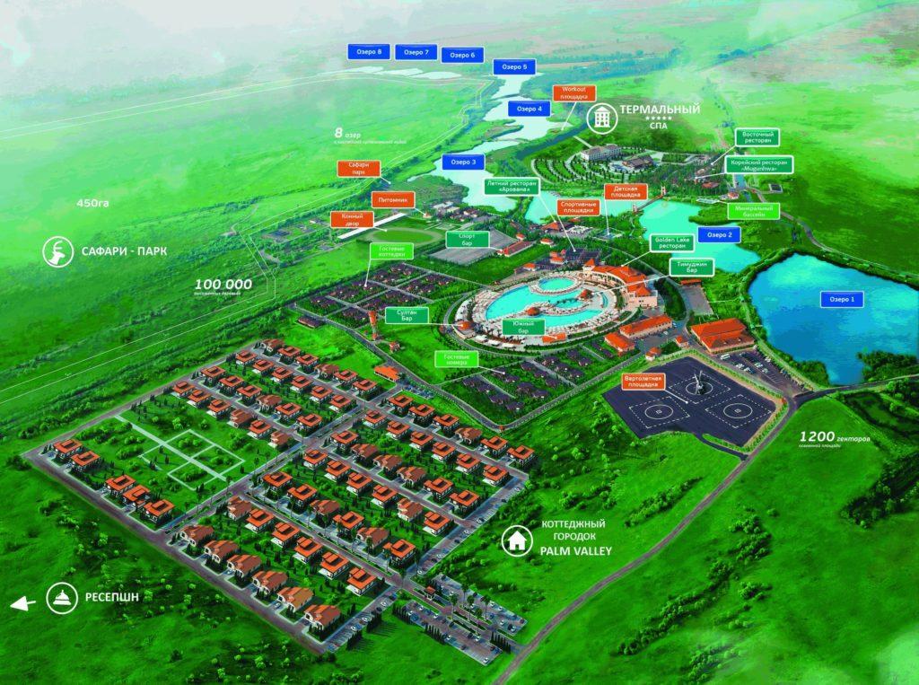 8 Lakes Almaty - Map
