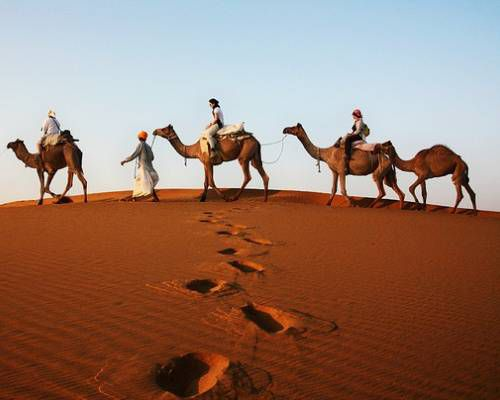 Camel Ride in the Kizilkum Desert, Uzbekistan