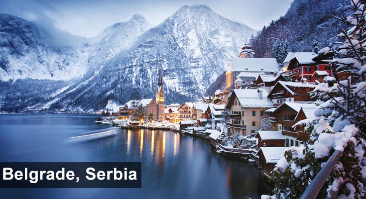 Winter in Belgrade Serbia