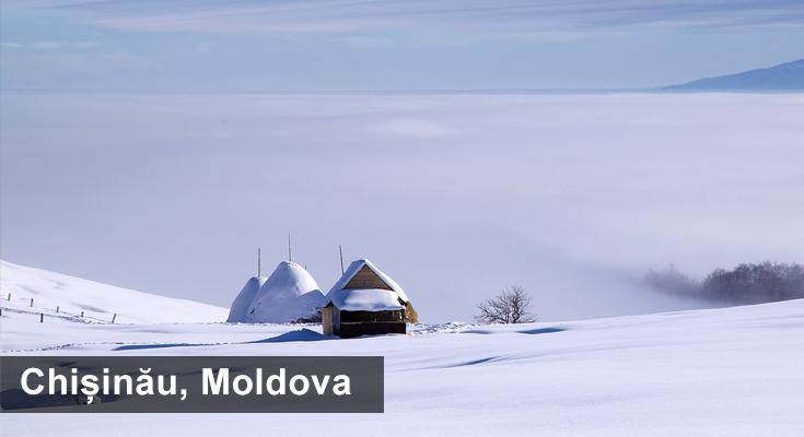 Winter in Chisinau Moldova