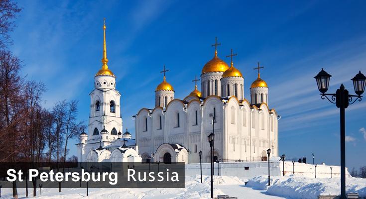 Winter in Saint Petersburg Russia