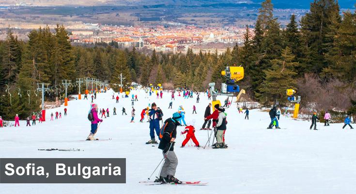 Winter in Sofia Bulgaria