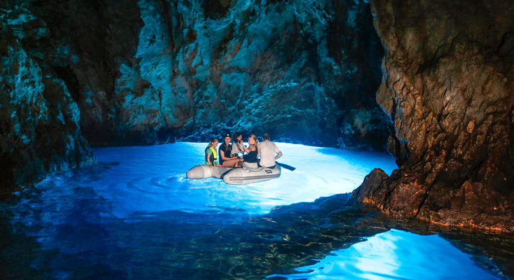 Adventure to the Blue Cave of Bisevo