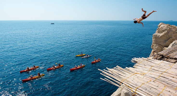 Try Cliff Jumping at Istra Region
