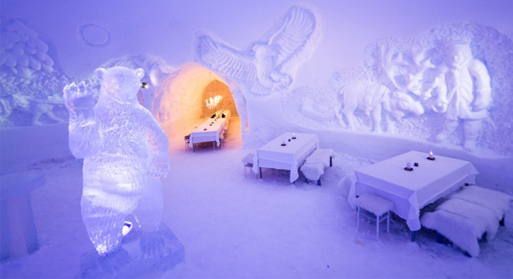 Hotel Made of Ice And Snow