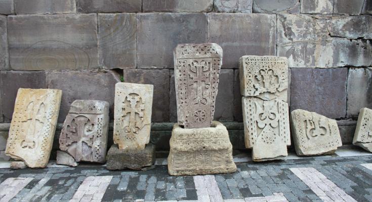 Armenian Cross Stone in Yerevan