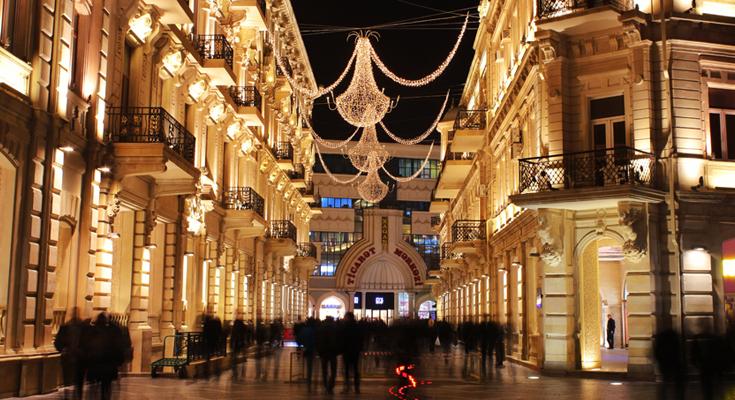 Nizami Street in Night