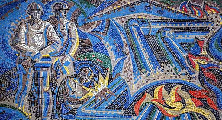 Soviet Mosaics Dushanbe